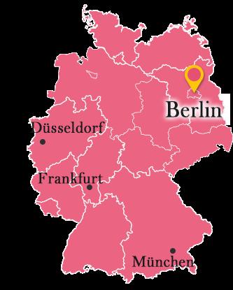 ドイツ地図の中のベルリン