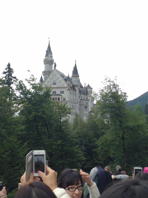 休日に訪れたノイシュバンシュタイン城