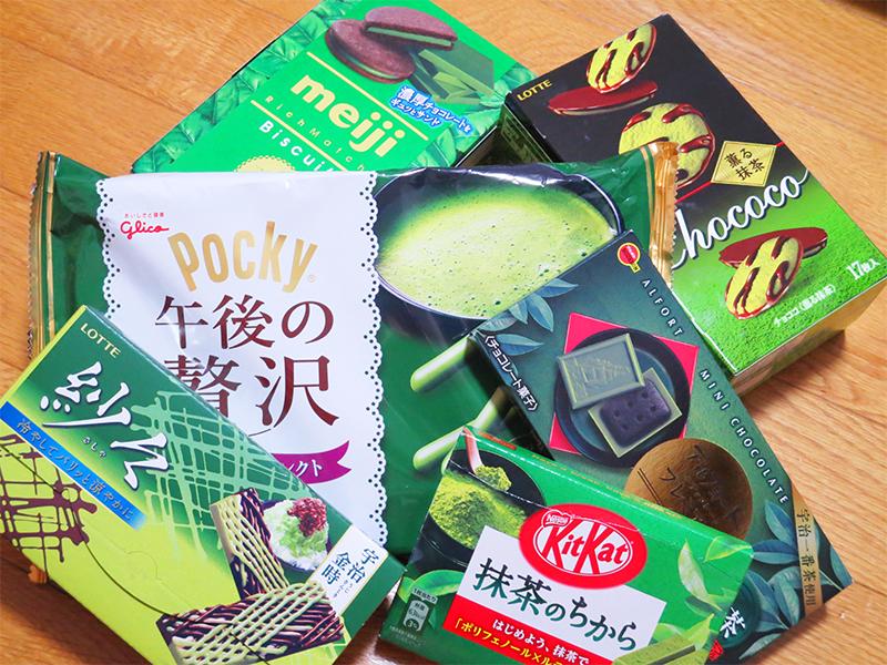 日本からのお土産抹茶のお菓子