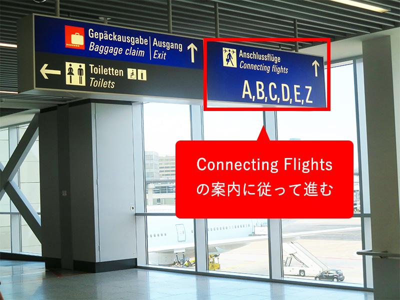 フランクフルト空港乗り換え案内版